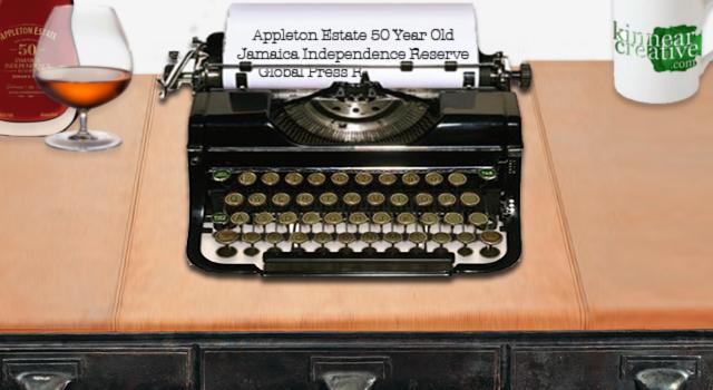 Appleton Estate 50 Year Old Jamaican Rum Typewriter
