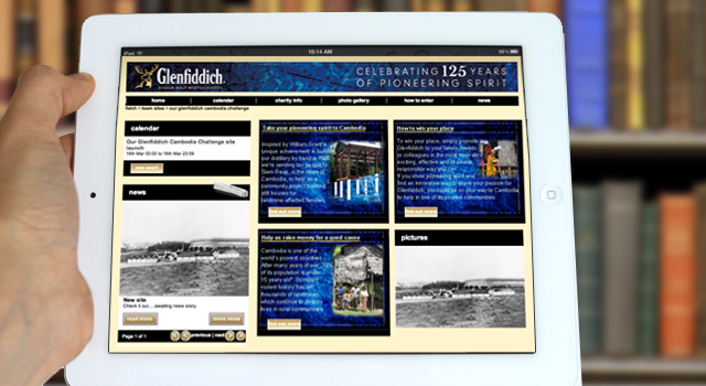 Global intranet / portal design > Glenfiddich